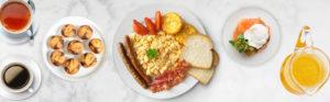 The Power Slam Breakfast catering